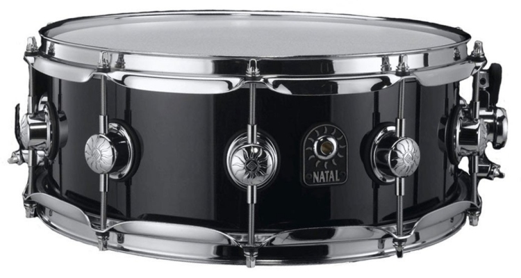 Natal 14 x 5.5 Ash Snare in Solid Black