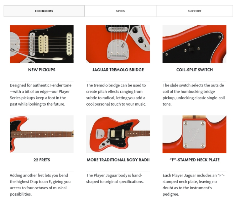 Fender Player Jaguar Sonic Red