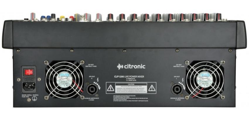 Citronic CLP1200 600w + 600w, 12 input powered mixer