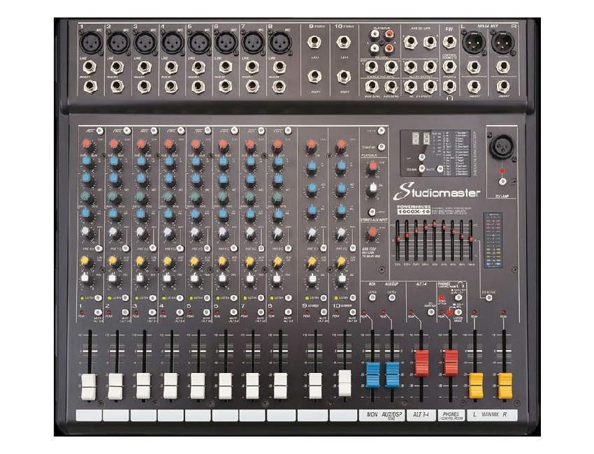 Studiomaster Powerhouse 1000X-10 Powered Mixer