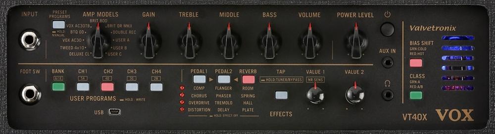 Vox VT40X Top Panel/Controls